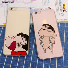 LPWZHMG Cute Cartoon Figure Case For iphne 6 Fashion Clear Soft TPU Phone Case Funny Action Cartoon Cover For iphone5 5S 6 6Plus