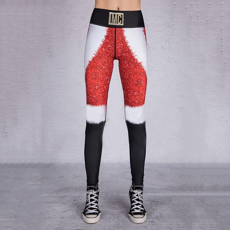 2019 Hayoha Christmas Printing Leggings Put Hip Elastic High Waist Legging Breathable Merry Christmas Pants 31