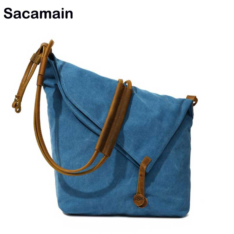 Large Capacity Shopping Shoulder Bag Female Leisure Casual Hobo Bags Canvas Daily Life Use Luxury Handbags Women Bags Designer plaid canvas tote casual beach bags large capacity women shopping bag daily use canvas handbags bolsa shoulder bag