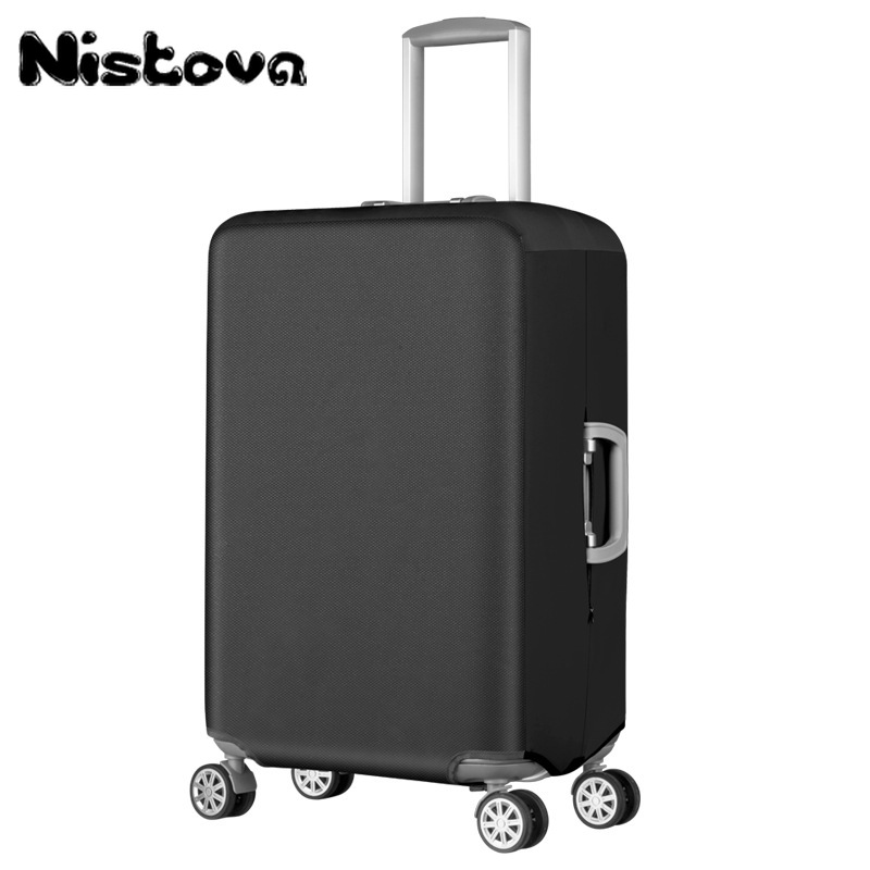 New Elastic Thickened Oxford Suitcase Cover Solid Luggage Protective Dustproof Cover Pull Rod Luggage For 20/22/24/26/28/30inch