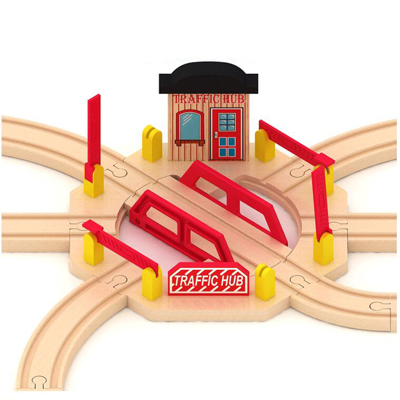 P122 Wooden train track accessories The disc track Compatible wooden train tracks suitable for wood and Electric Thomas