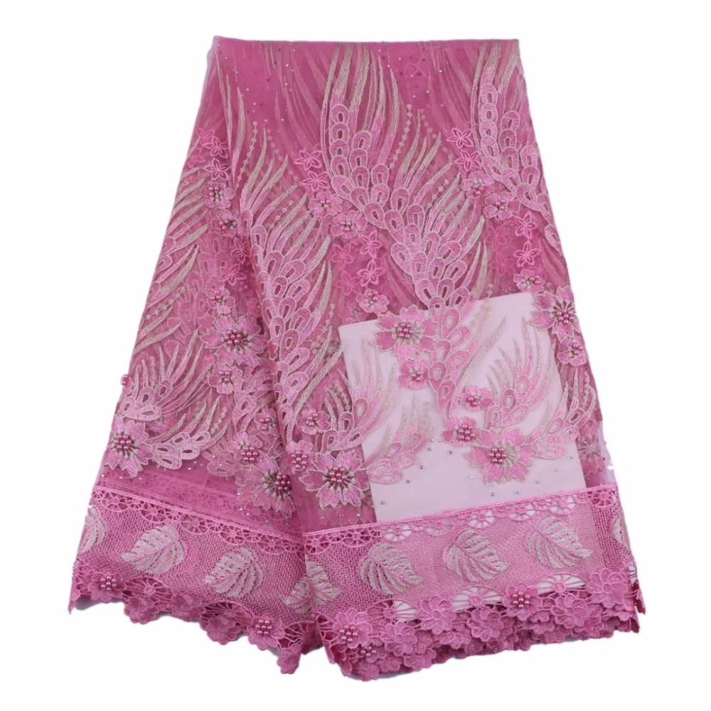 Elegant Tulle French Lace Fabrics With Lots Of Beads 2017 Latest African Lace Fabric For Wedding Party Nigerian Lace Elegant Tulle French Lace Fabrics With Lots Of Beads 2017 Latest African Lace Fabric For Wedding Party Nigerian Lace