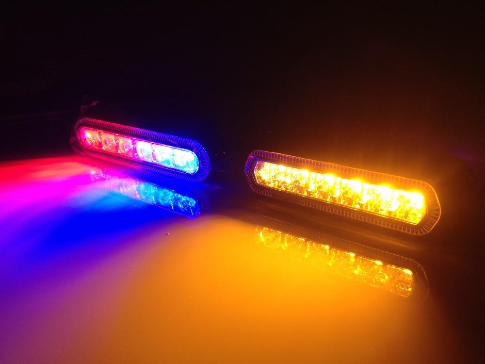 TOP quality IP67 SAE J845 Class 1 ECE R10 R65 LED Car Emergency Hazard Warning Beacon 18W Truck Flash grille Strobe Light Bar