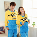Autumn/winter Women High-quality Flannel pajamas lovers nightgown Set Home leisure Cartoon despicable Me Long-sleeved nightgown