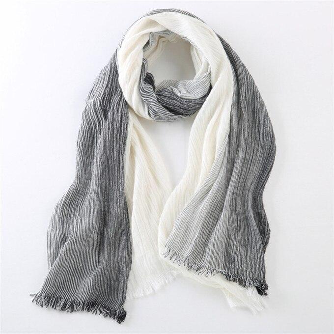 Новинка, брендовый зимний шарф для мужчин, теплый, мягкий, с кисточками, Bufandas Cachecol, серый, в клетку, тканый, мятой, хлопок, мужские шарфы - Цвет: black