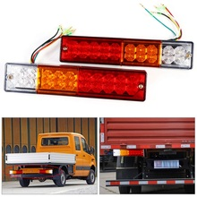 2pcs LED Stop Rear Tail Brake Reverse Light Turn Indiactor 12V 24V ATV Truck Trailer font