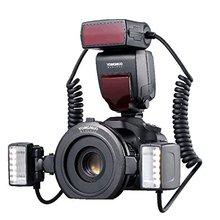 YONGNUO YN-24EX макро кольцо Вспышка Speedlite с 2 флэш-головкой 4 переходные кольца для Canon макросъемки/макросъемки
