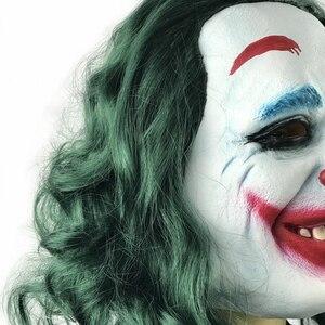 Image 5 - Movie Joker 2019 Cosplay Masker Batman The Dark Knight Clown Masker met Haar Pruik Halloween Latex Masker