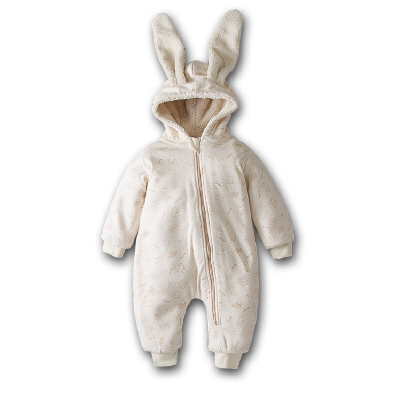 Baby Rompers Colored Organic Cotton Newborns baby Boy Girl Rompers Autumn Fashion Warm Outerwear Sport Infant Jumpsuit 0 24M