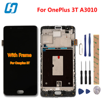 For Oneplus 3T Lcd Display Touch Screen With Frame New Digitizer Touch Screen Panel Accessory Replacement
