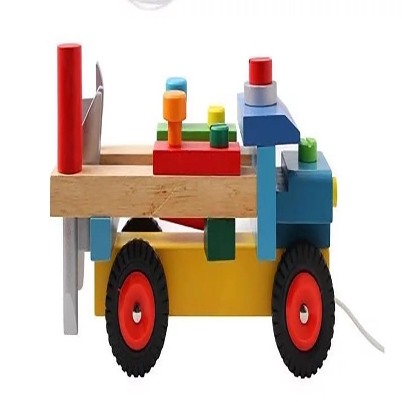 2019 Baby Houten Trein Slepen Vrachtwagen Speelgoed Kinderen Kids Educatief Diecasts Antistress Speelgoed Voertuig Bouwstenen Set Aangename Zoetheid