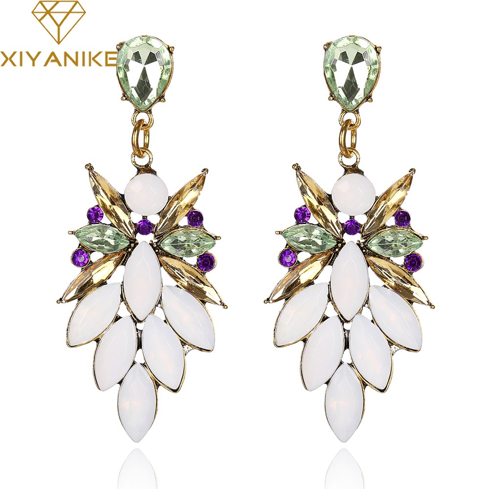 Hot Vintage Fashion Crystals Drop Pendent Women/'s Earrings