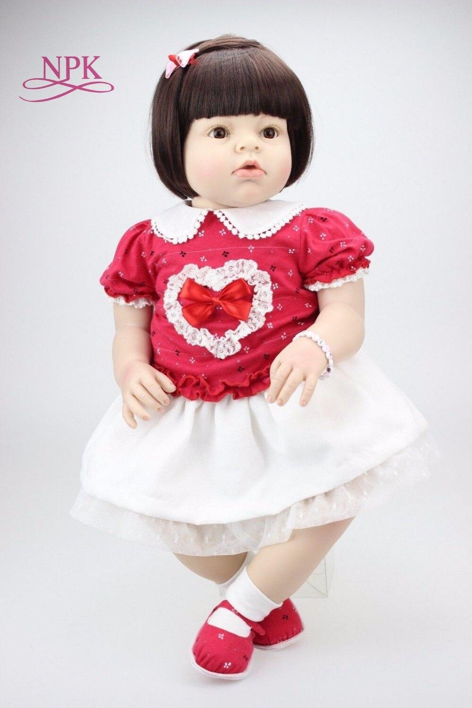 NPK 70 см Reborn Мягкая силиконовая Кукла Reborn Baby куклы для девочек принцесса Bebe Reborn для детей детский игровой дом игрушки подарки бонкас