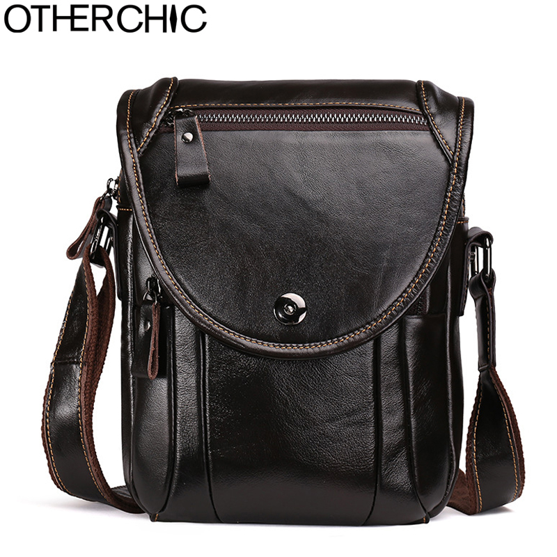 OTHERCHIC Men Messenger Bags Small Genuine Leather Bag Men Designer High Quality Shoulder Bag Travel Bags Men Handbag L-7N07-11 otherchic 2017 genuine leather men bag high quality messenger bags small travel brown crossbody shoulder bag for men l 7n07 37