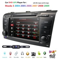 Wince 6.0 Car DVD Player Fit Mazda 3 GPS Navigation 2Din Steering Wheel 800*480 SD Radio Bluetooth TV DAB+BOX DVB T Rearview CAM