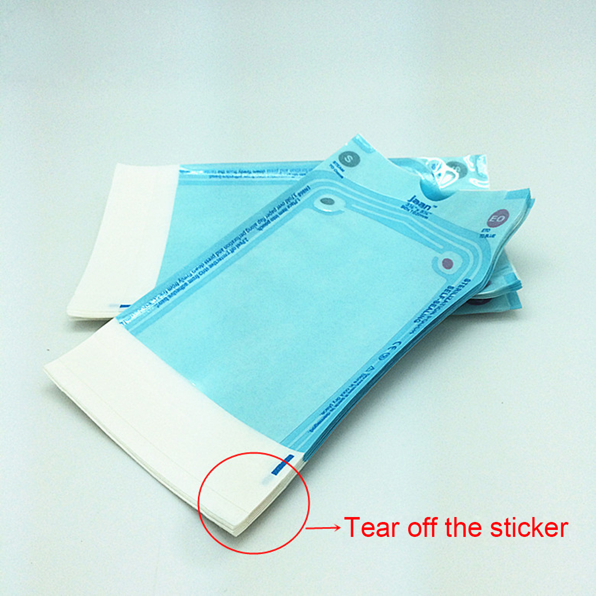 Oral Hygiene Dental Self Seal Sterilization Pouches Disposable Autoclave Medical Tool Storage Bag Teeth Whitening