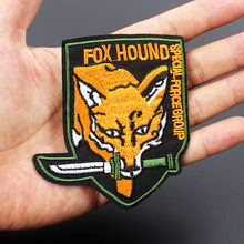 Foxhound Fox Hound Army Patch Special Force Group Military Badges Embroidered Applique for Jacket Jeans Cloth Decoration(China)