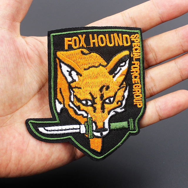 US $1 18 15% OFF|Foxhound Fox Hound Army Patch Special Force Group Military  Badges Embroidered Applique for Jacket Jeans Cloth Decoration-in Patches