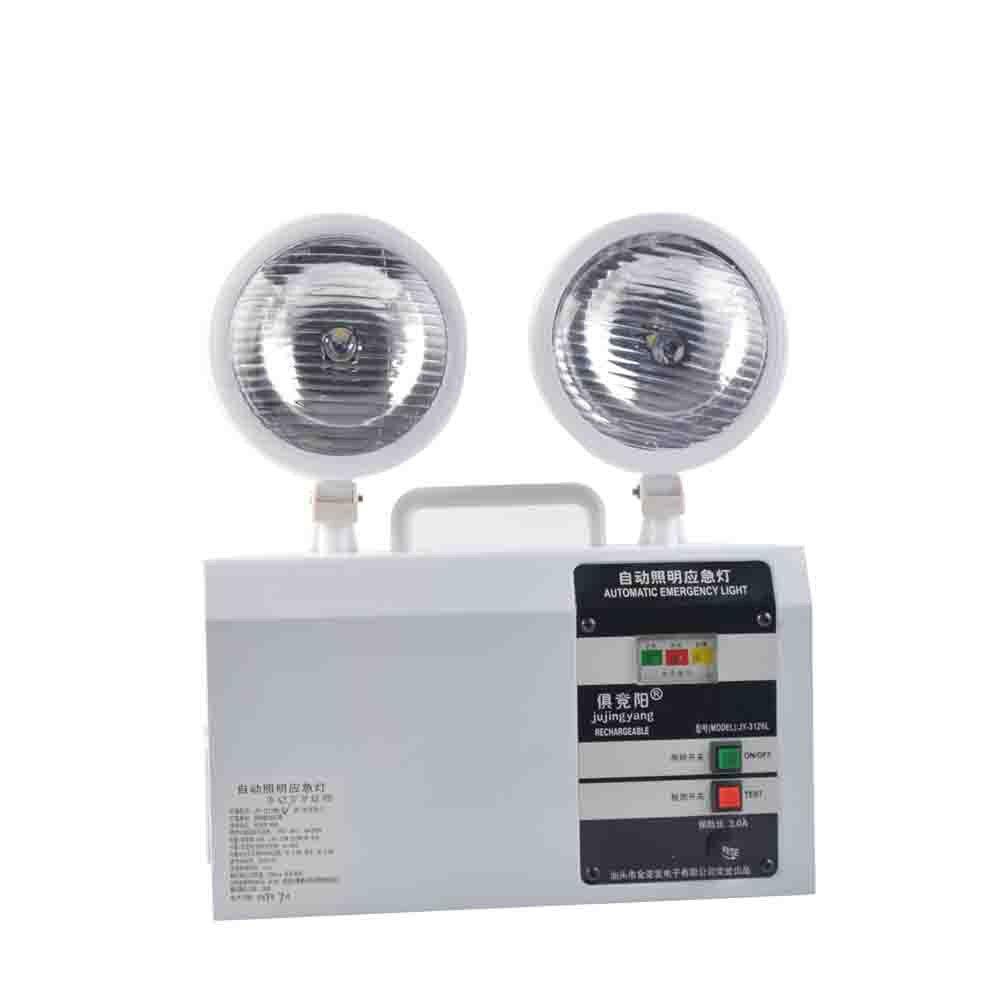 Акумулаторна LED фенерна предпазна изходна светлина 10W двуглава пожарна аварийна светлина за асансьор, домакинство, индустрия, автоматична