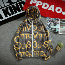 Summer New Thin Jacket Men Sunscreen Fashion Letter Printing Casual Hooded Man Streetwear Hip Hop Loose Bomber