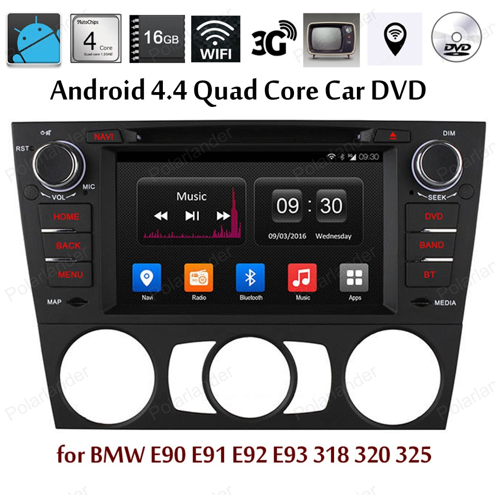 Android4 4 Car DVD Quad Core radio Support GPS BT 3G WiFi font b TPMS b