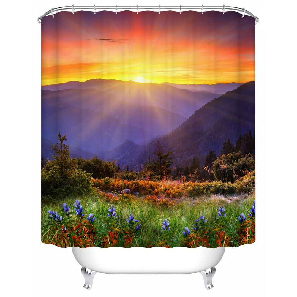 new waterproof shower curtain high quality bathroom products acceptable custom diy y046
