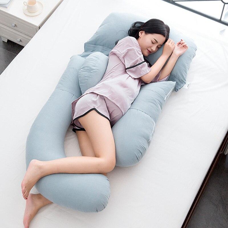 Begeistert Große Größe Schwangere Frauen Kissen Für Unterstützung Taille Bauch Mutterschaft Seite Schlaf Körper Kissen Schwangerschaft Pflege U Große Kissen