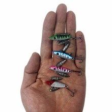 10Pcs 1g-7.5g Winter Ice Fishing Jigs Lure With Metal Spoon Spinner Lures Mini Lead Fish Jig Heads Hooks Fishing Lure Set