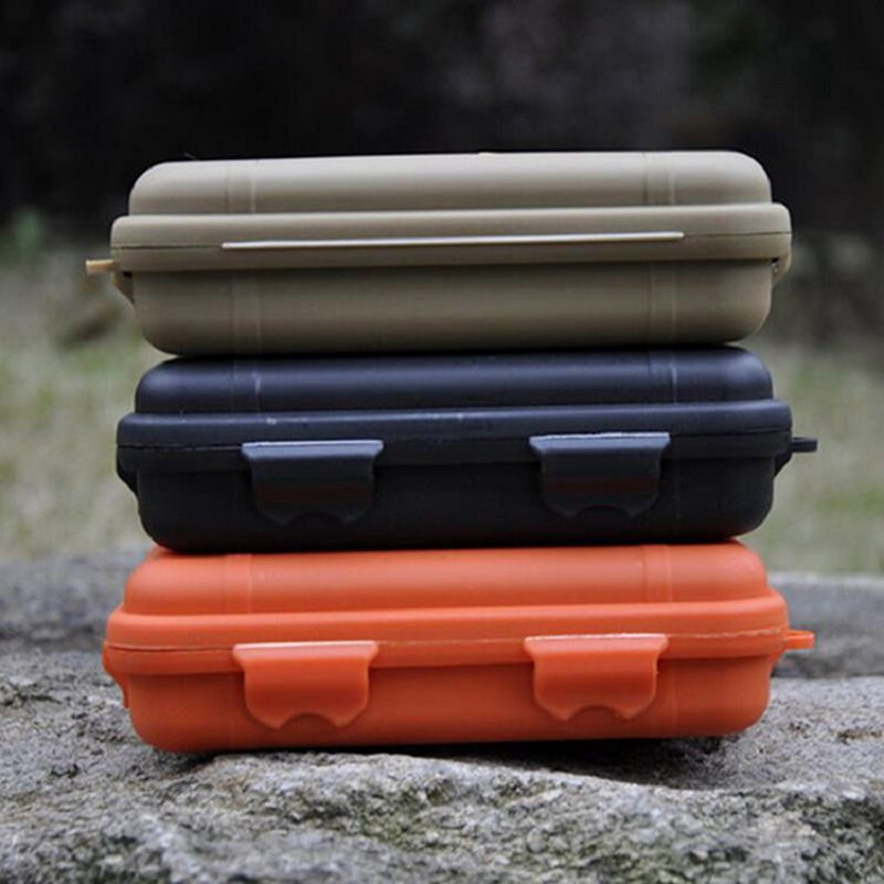 First Aid Kits Shockproof Survival Storage Case Waterproof Airtight Camping Travel Container Carry Storage Box Survival Tools