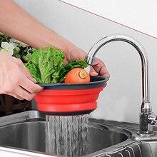 2 pieces Kitchen accessories tools – Silicone Collapsible Kitchen Colander Fruit & Vegetable Strainer – Drainer Washing Baske
