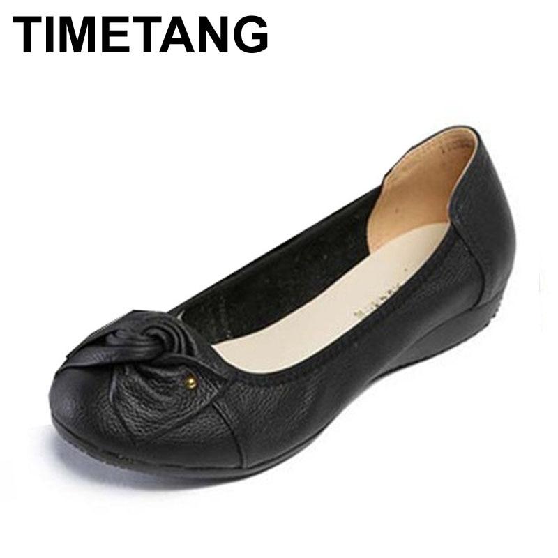 Plus size(34-43) women genuine leather flat shoes woman work shoes newest fashion female casual single shoes women flats
