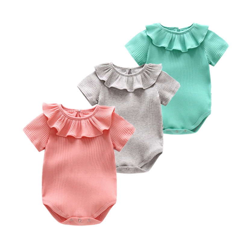 2018 summer dresses for baby girls clothes , nice baby girls clothes summer baby bodysuits 0-24M infant baby girl vestidos