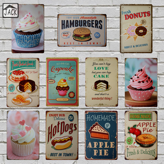 Sweet Cupcake 20x30cm Vintage Tin Signs Bar Club Cafe Shop Gallery ...
