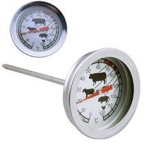 Termómetro de acero inoxidable con sonda de lectura instantánea para barbacoa, medidor de carne para cocinar alimentos