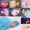 0-18M Cute Princess Baby Girl Tutu Skirts Newborn Photography Props Clothing Newborn Baby Girls Clothes Birthday Gift Veil
