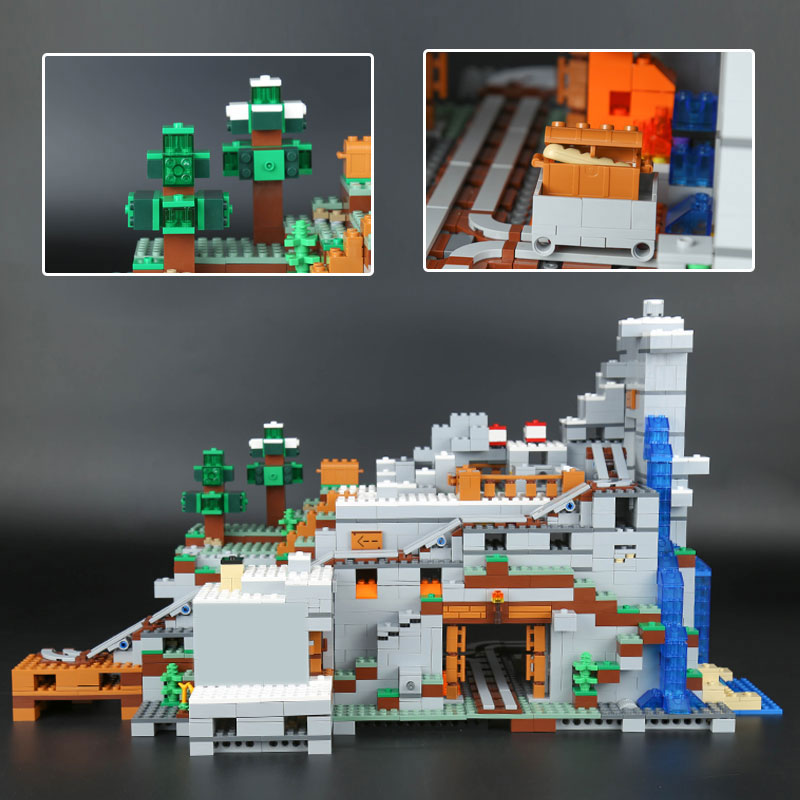 MINECRAFTED The Mountain Cave TOYS 2304PCS Compatible legoinglys My worlds 21137 stacking block model building kit Blocks Bricks 2