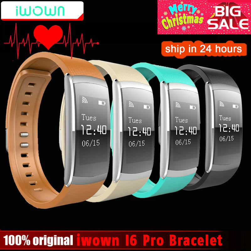 Nuevo Original iwown iwownfit I6 PRO pulsera inteligente Monitor de ritmo cardíaco pulsera inteligente rastreador de Fitness soporte Android IOS