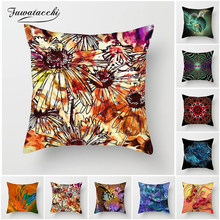 Fuwatacchi 3D Flowers Cushion Cover Phantom Butterfly Pillow Case Decoration Chair Sofa Home Paisley Geometric Pillowcases(China)