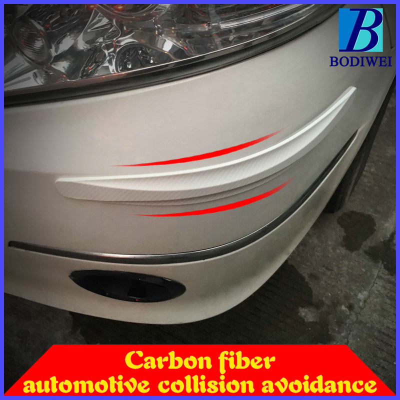 Car Styling moulding Carbon Fiber car stickers Car Bumper Protector Guards Car Door Crash Bar Bumper Protector 2 PCS Per Set 4 x pieces carbon fiber car side door bumper edge protector trim car styling for ford fiesta st