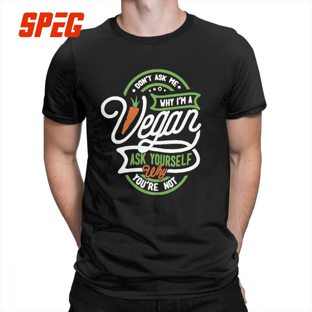 Vegan Vintage   T     Shirts   Crewneck Plus Size Tees Casual Men's Pure Cotton Short-Sleeve   T  -  Shirts   Quality Fashion Top