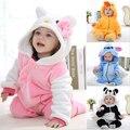 Macacão Animal bebê menino menina Olá kitty rosa Dos Desenhos Animados Macacão Pijamas de Inverno quente de Outono Crianças velo coral bonito do Ponto YJY