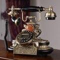 Ансель Европейский стиль телефон антикварные американских роскошных старинных Дерева, металла домашний телефон