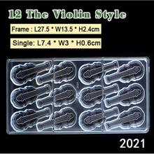 1 stück Durchsichtigen Kunststoff DIY 3 D Violine Form Polycarbonat PC Schokolade Süßigkeiten Gelee Formbündel Form Fondant Kuchen Form