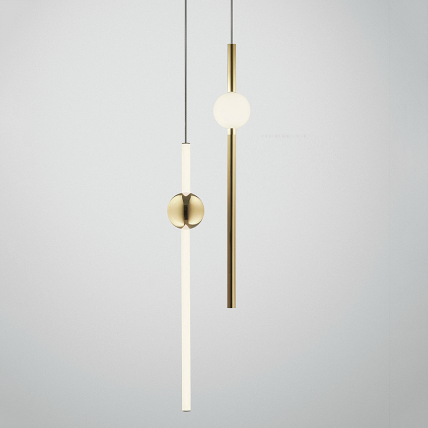 Nordic LED Chandelier Lighting Loft Pendant Lamps Metal Ball Vertical Lustre Home Indoor Decor Luminaire Hanging Lamps Luminaire in Pendant Lights from Lights Lighting