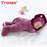 35CM Baby Doll Reborn Doll Toy For Kids Appease Accompany Sleep Cute Vinyl Doll Plush Toy