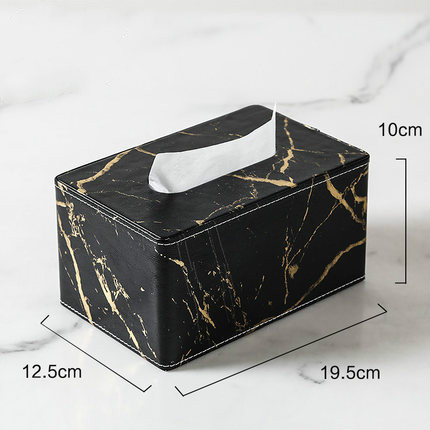 Креативная мраморная кожаная коробка для салфеток, Скандинавская мода, настольная, для гостиной, столовой, бумажная коробка для хранения полотенец, для украшения дома - Цвет: B