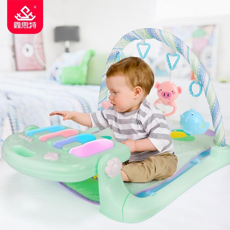 Bébé Gym enfants tapis multifonction Piano Fitness Rack avec musique bébé hochet nouveau-né infantile jeu tapis activité jouets éducatifs