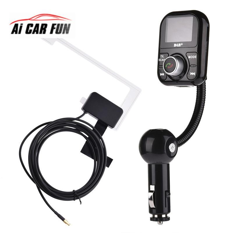 Universal DAB/Antenna Adapter Receiver FM Transmitter Handsfree Extension antenna Bluetooth Car DAB Player For Europe Australia