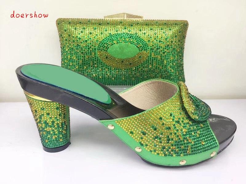 Pour 13 Femmes De Doershow Mariage Africain Assortir Ensemble Chaussures Sac Italiennes Et Bonne Vente À Mode Tys1 zqUqBHa