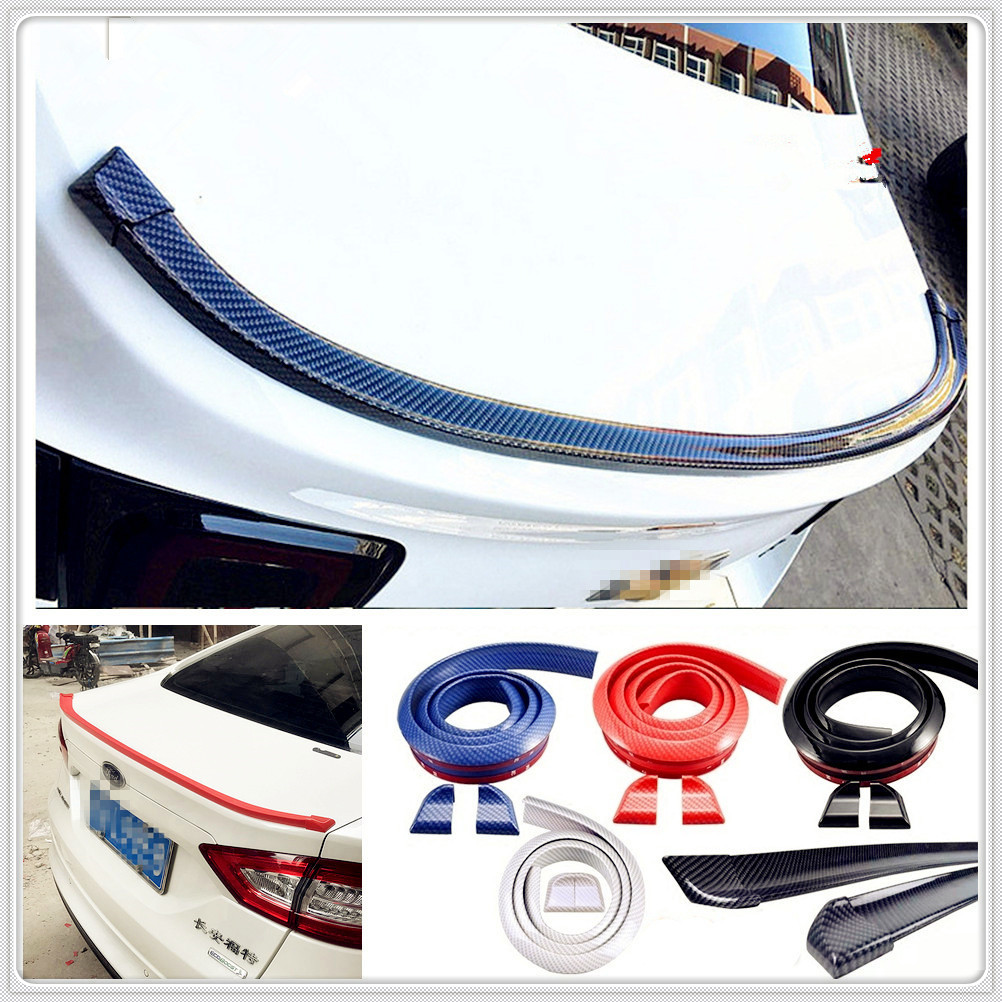 Car auto Rubber tail Rear <font><b>Spoiler</b></font> Wing for Mercedes Benz W211 <font><b>W203</b></font> W204 W210 W124 AMG W202 CLA W212 W220 CLK63 R F700 image